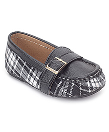 Sweet Year Loafer Shoes Slip On - Check Pattern