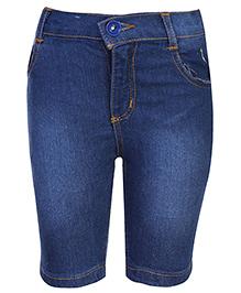 Babyhug Jamaican Denim Shorts - Blue