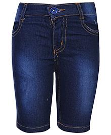 Babyhug Jamaican Denim Shorts - Dark Blue