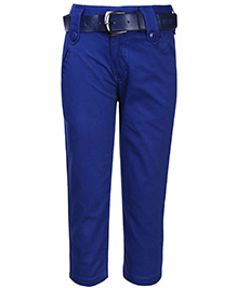 Talent Full Length Trouser With Belt - Solid Color