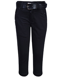 Talent Full Length Pant With Belt - Solid Color