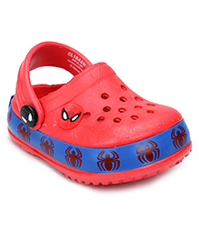 Spider Man Clogs With Back Strap - Red
