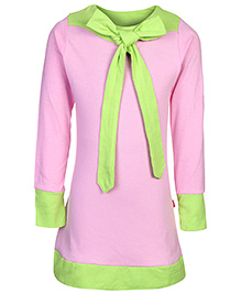 Dreamszone Full Sleeves Long Top Pink - Ribbon Bow Pattern
