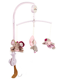 1st Step Musical Cot Mobile - Pink