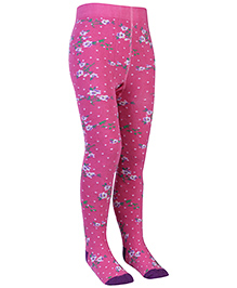 Mustang Footed Tights Stockings - Floral Print
