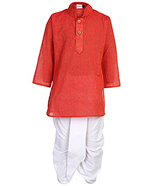 Babyhug Full Sleeves Kurta And Dhoti Set - Solid Color