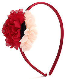 Hopscotch Hair Band Flower Motif - Red