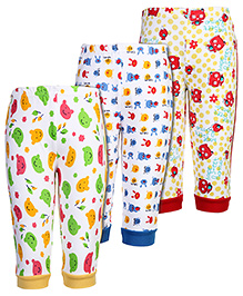 Babyhug Full Length Leggings Multi Print - Set of 3