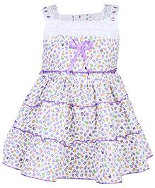 Babyhug Singlet Frock - Floral Print