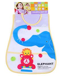 Mee Mee Baby Bib Elephant Print - Multicolour