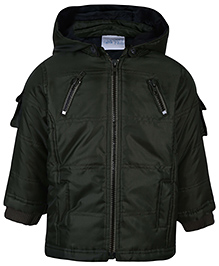 FS Mini Klub Hooded Jacket - Olive Green