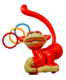 Adraxx Hip Swaying Musical Monkey Toy With Ring Toss Game