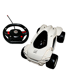 Adraxx Remote Control Super Stunt Performing Car Toy - White - 6 To 12 Years