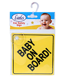 Littles Car Safety Sign Board - Yellow