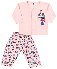 Cucumber T-Shirt And Legging Night Suit - Cycle Print