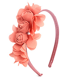 Hopscotch Hair Band Rose Cluster - Peach