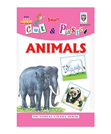 Indian Book Depot map house Cut And Paste Book of Animals - English
