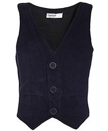 Beebay Sleeveless Corduroy Waist Coat - Black