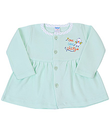 Tango Front Open Baby Frock - One Cute Chicky Print
