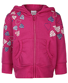 FS Mini Klub Hooded Sweatshirt Pink - Heart Print
