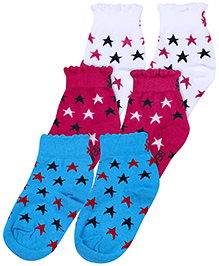 United Colors of Benetton Socks Star Print - Pack Of 3