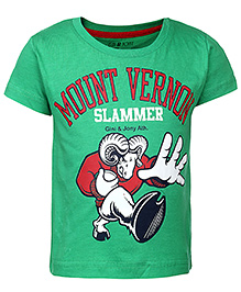 Gini & Jony Half Sleeves T-Shirt Green - Mount Vernon Print