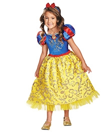 Snow White Sparkle Deluxe Theme Costume - Blue And Yellow