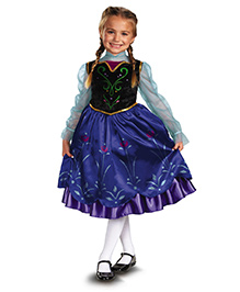 Disney Anna Deluxe Theme Costume - Blue