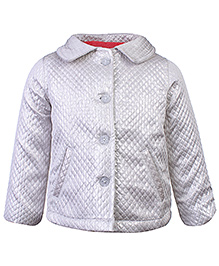 Beebay Full Sleeves Quilted Jacket - White
