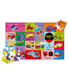 Art Factory Vehicles Puzzle And Book Kit - English
