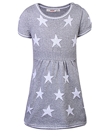 Fox Baby Half Sleeves Casual Dress - Star Print