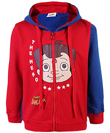 Chhota Bheem Hooded Sweat Jacket - The Hero Print - 2 To 3 Years