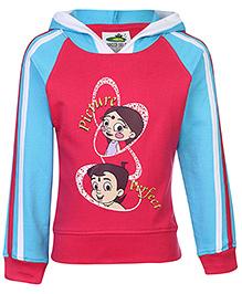 Chhota Bheem Hooded Sweatshirt Full Sleeves - Fuchsia