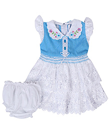 Babyhug Frock With Bloomer - Lace Frill Design