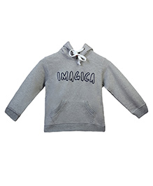 Imagica Full Sleeves Hooded Sweatshirt - Grey