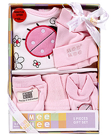 Mee Mee Pink Gift Set Bee Theme - 5 Pieces