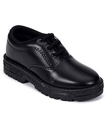 Liberty School Shoes Tie Up Closure - Black