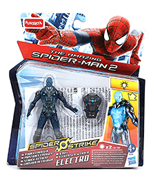 Funskool The Amazing Spiderman 2 Spider Strike Electro Figure Blue And Grey - 10 cm
