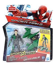 Funskool The Amazing Spiderman Spider Strike Green Goblin Man Figure Green And Grey - 10 cm