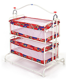 Infanto Twin Cradle Multi Print - Red