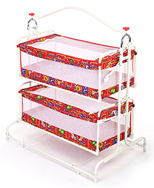 Infanto Twin Cradle Animal Print - Red