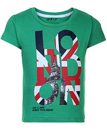 Gini & Jony Half Sleeves T-Shirt Green - London Print