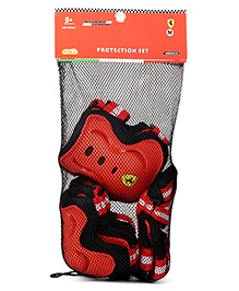 Ferrari Protective Gear Set - Red And Black