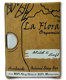 La Flora Organics Baby Soft Handmade Natural Soap Bar - 100 gm