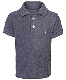 Babyhug Half Sleeves Polo T-Shirt - Solid Colour