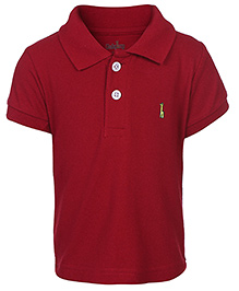 Babyhug Half Sleeves Polo T-Shirt - Solid Colour