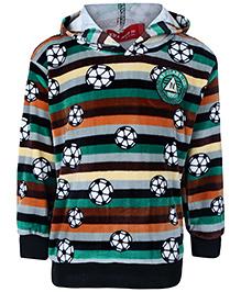 Noddy Hooded Sweatshirt Full Sleeves - Football Print