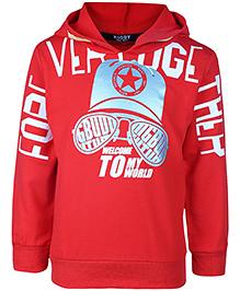 Noddy Hooded Sweatshirt Full Sleeves - Red - 1 To 2 Year