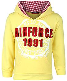 Noddy Hooded Sweatshirt Full Sleeves - Yellow