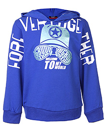 Noddy Hooded Sweatshirt Full Sleeves - Royal Blue
